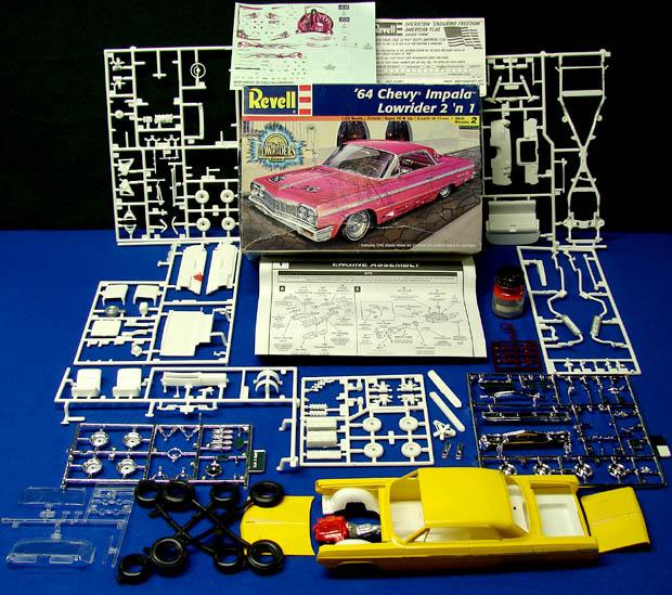 Boxed 1964 Chevy Impala Lowrider Revell Monogram Plastic Car Model Kit
