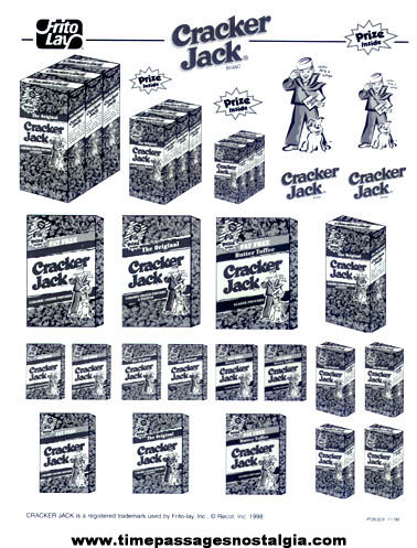 Unused ©1998 Frito Lay Cracker Jack Advertising Clip Art Image Sheet