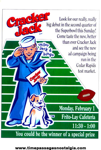 1999 Cracker Jack Frito-Lay Company Party Poster
