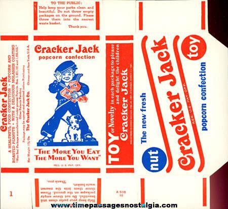 1960s Unused Cracker Jack Advertising Movie Prop Box
