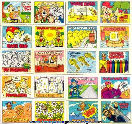 Cracker Jack Series #61 Toy Prizes (Pretend Postcards)