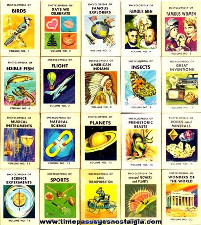 1960s Cracker Jack Encyclopedia Books