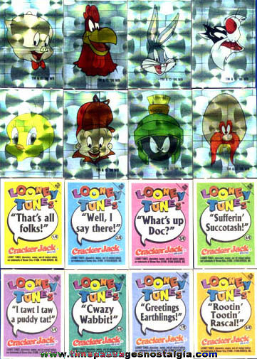 Cracker Jack Looney Tunes Cartoon Shiny Stickers