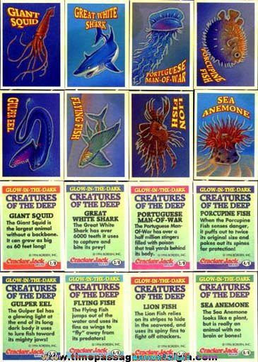 1996 Cracker Jack Creatures of the Deep Cards
