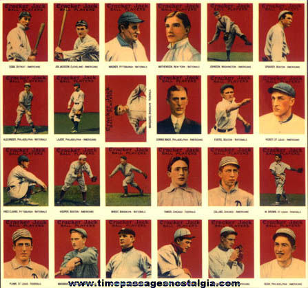 1993 Cracker Jack Nostalgic Baseball Cards
