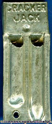 1920's Cracker Jack Prize / Premium Two Tone Tin Whistle