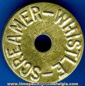 1930's Cracker Jack Premium / Prize Tin Toy Screamer Whistle