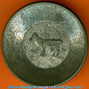 1930's Cracker Jack Premium / Prize Tin Toy Bowl or Plate