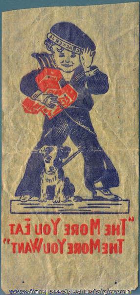 Old Cracker Jack Iron On Transfer Premium / Prize of Sailor Jack & Bingo