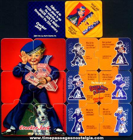 ©2004 Cracker Jack Cracker Barrel Restaurant Nostalgic Puzzle Prizes