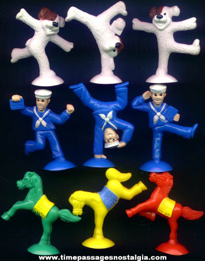 ©2000 Cracker Jack 3-D Character Suction Cup Figure Prizes