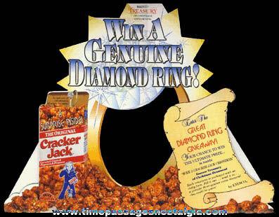 ©1996 Unused Enesco Cracker Jack Ornament Store Display Diecut Sign