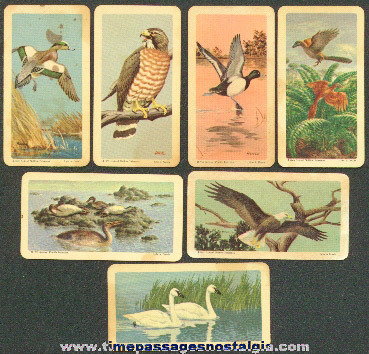 (7) Old Bird Brooke Bond / Red Rose Tea Premium Trading Cards