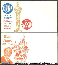 (2) Different Walt Disney Commemorative Envelopes