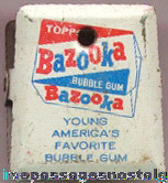 Old Lithographed Tin Bazooka Bubble Gum Advertising Clip