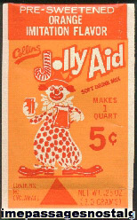 Old Unopened Orange Flavored Jolly Aid Drink Mix Packet