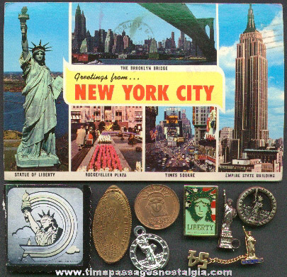 (9) Statue Of Liberty Souvenir Items