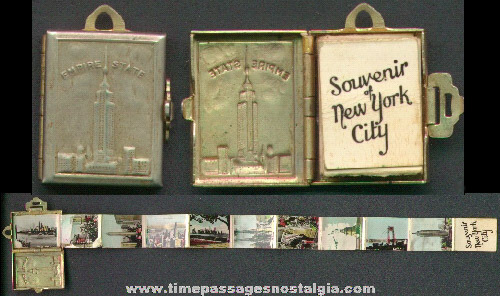 Old Empire State Building Souvenir Photo Charm Locket