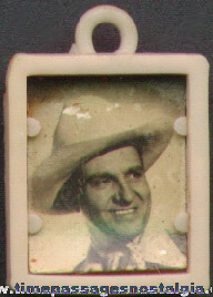Old Gene Autry Gum Ball Machine Prize Photograph Charm