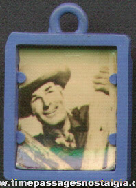 Old Randolph Scott Cowboy Star Gum Ball Machine Prize Photograph Charm