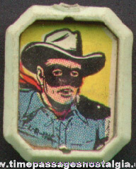 Old Lone Ranger Gum Ball Machine Prize Comic Picture Charm