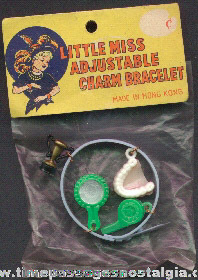 Old Unopened Novelty Toy Charm Bracelet With Charms