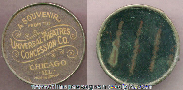 Old Rare Universal Theatres Concession Company Advertising Premium Mirror