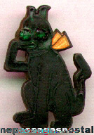 Rare Early Enameled Krazy Kat Character Pin