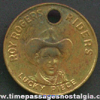 1950's Roy Rogers Riders Lucky Piece Coin / Token