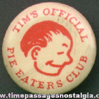 1940s TIM Club Premium Celluloid Pin Back Button
