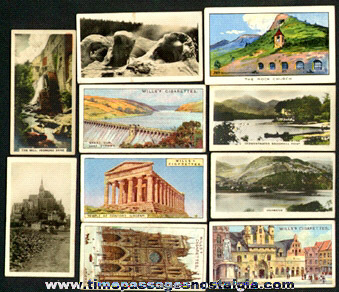 (10) Old Scenic Cigarette Advertising Premium Trading Cards