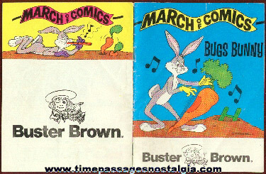 1978 Premium Bugs Bunny Comic Book From Buster Brown & the March of Dimes