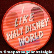 Mickey Mouse / Walt Disney World Flicker / Lenticular Souvenir Pin