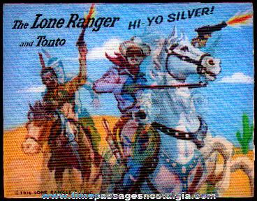 1976 Lone Ranger & Tonto Flicker / Lenticular Card