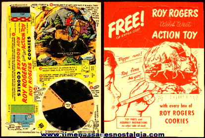 Rare Unused ROY ROGERS Cookies Advertising Premium Wild West Action Mechanical Toy