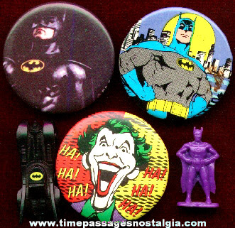 (5) Small Batman Related Items