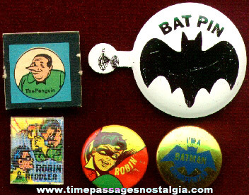 (5) Older Small Batman Items