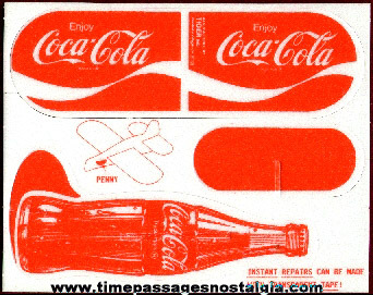 Coca Cola Advertising Premium Styrofoam Coke Bottle Airplane