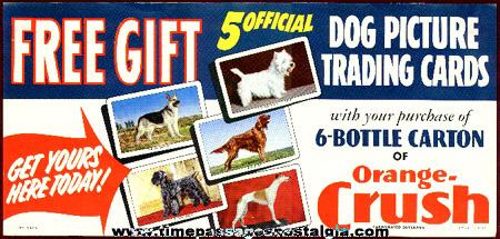 Old Orange Crush Soda Dog Trading Card Advertising Store Poster