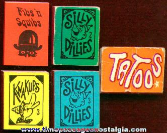 (5) Gum Ball Machine Prize Miniature Books