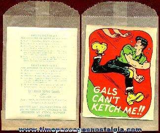 Unused ©1951 Li'l Abner Decal With Envelope