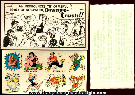 1950 Orange Crush Soda Li'l Abner Premium