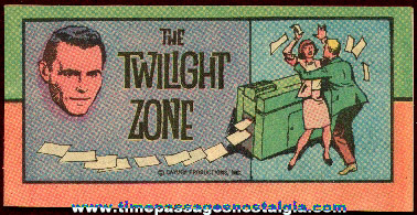 Old Twilight Zone Cereal Premium (?) Comic Book