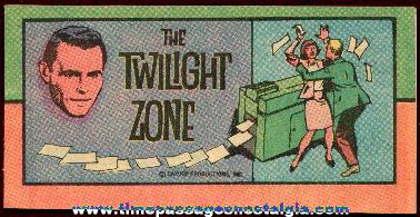 Old Twilight Zone Cereal Premium (?) Comic Book
