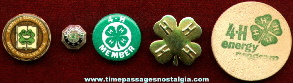 (5) Small Old 4 - H Club Items