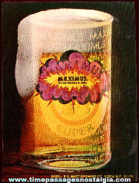 Maximus Beer Advertising Flicker Card / Sticker