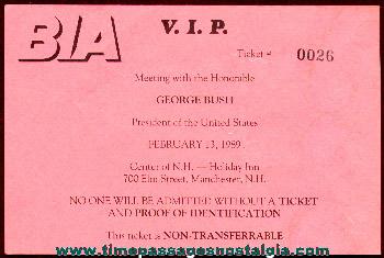 1989 President George Bush Invitation