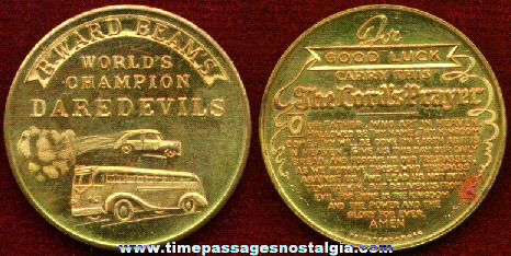 Old B. Ward Beam's World Champion Daredevils Advertising Coin