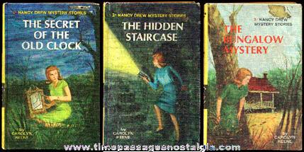 (3) Nancy Drew Books: Volumes #1, #2, & #3