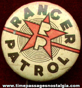 Old Ranger Patrol Pin Back Button